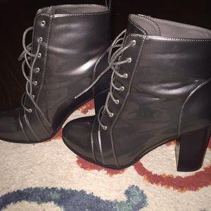 Metallic high boots